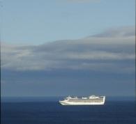 Sunlit Cruise Ship
